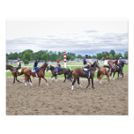 Corredores del césped del asilo del caballo impresión fotográfica