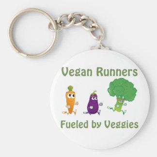 Corredores del vegano - aprovisionados de llavero redondo tipo pin