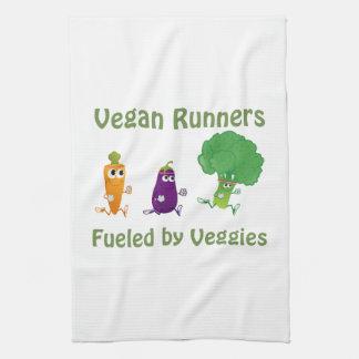 Corredores del vegano - aprovisionados de toallas