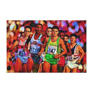 Corredores olímpicos impresión en lienzo
