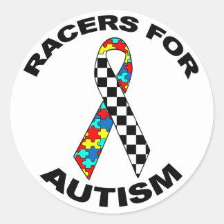 Corredores para el autismo pegatina redonda