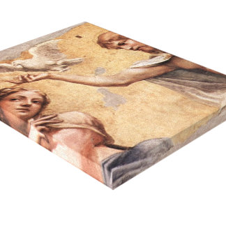 Correggio: Coronation Scene Canvas Print