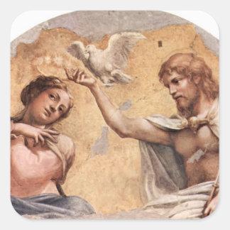 Correggio: Coronation Scene Square Stickers