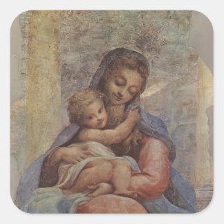 Correggio: Madonna della Scala Square Sticker