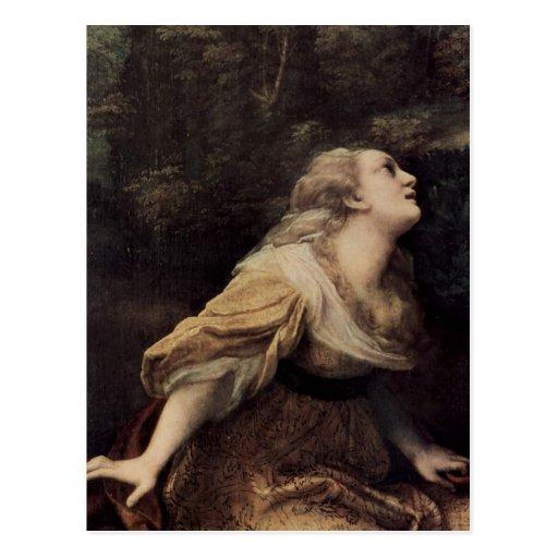Correggio Noli me tangere, Detail: Hl. Maria Magda Postcard