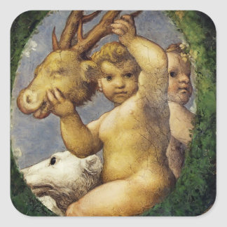 Correggio- Putto With Hunting Trophy Sticker