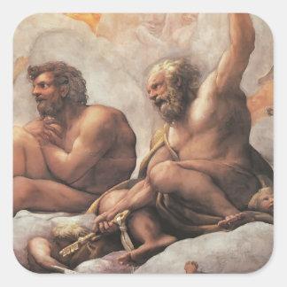 Correggio: The Apostles Peter and Paul Square Stickers