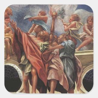 Correggio- The Assumption of the Virgin (detail) Square Sticker