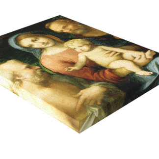 Correggio- The Holy Family with Saint Jerome Gallery Wrapped Canvas