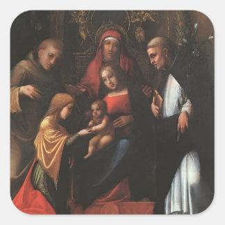 Correggio- The Mystic Marriage of St. Catherine Sticker