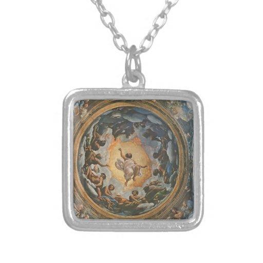 Correggio- Vision de St. John en Patmos Colgantes Personalizados