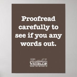 Corregido cuidadosamente póster