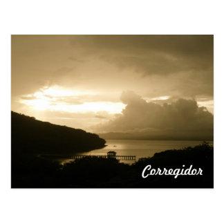 Corregidor Sunset Postcard