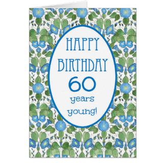 Correhuela azul, 60.a tarjeta de cumpleaños del