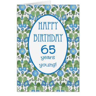 Correhuela azul, 65.a tarjeta de cumpleaños del
