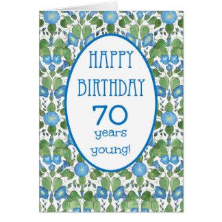 Correhuela azul, 70.a tarjeta de cumpleaños del