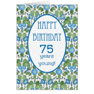 Correhuela azul, 75.a tarjeta de cumpleaños del