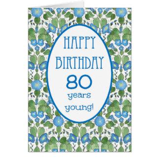 Correhuela azul, 80.a tarjeta de cumpleaños del