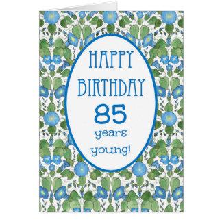Correhuela azul, 85a tarjeta de cumpleaños del