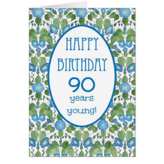 Correhuela azul, 90.a tarjeta de cumpleaños del