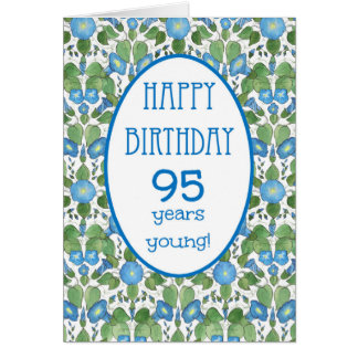 Correhuela azul, 95.a tarjeta de cumpleaños del
