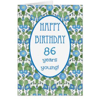 Correhuela azul, tarjeta de cumpleaños específica