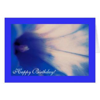 Correhuela azul tarjeta de felicitación del feliz