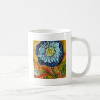 Correhuela azul taza básica blanca