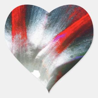 Correhuela en rojo y negro pegatina en forma de corazón