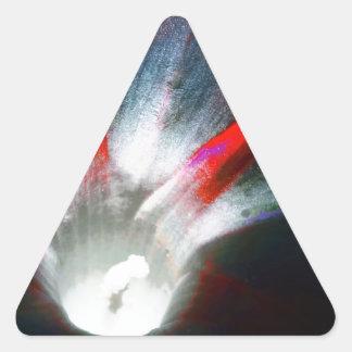 Correhuela en rojo y negro pegatina triangular