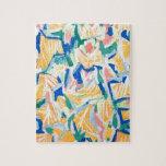 Correhuelas amarillas abstractas (flores abstracta puzzles