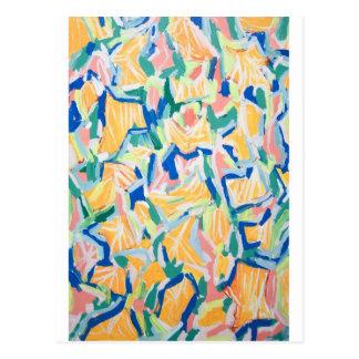 Correhuelas amarillas abstractas flores abstracta tarjetas postales