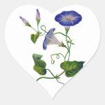 Correhuelas azules bordadas pegatina en forma de corazón