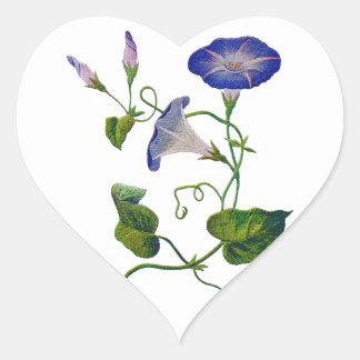 Correhuelas azules bordadas calcomania corazon