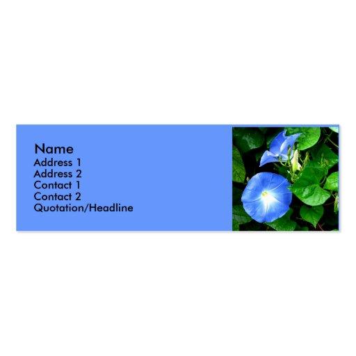 Correhuelas azules divinas tarjetas de visita mini