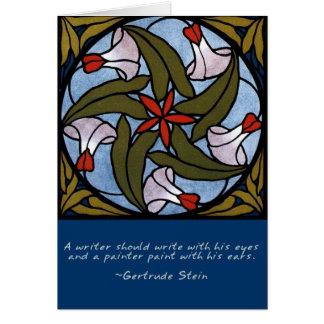 Correhuelas blancas - cita de Gertrude Stein Tarjeta De Felicitación