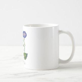 Correhuelas bordadas azul hermoso taza clásica