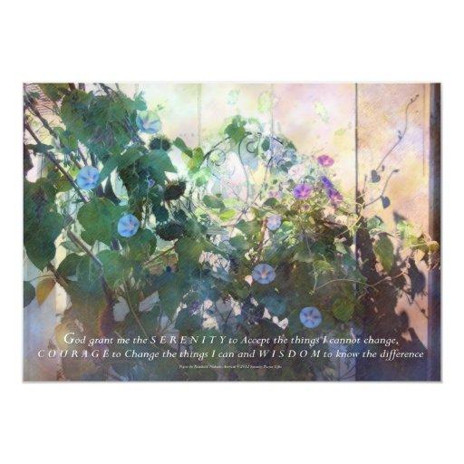 Correhuelas de la tarde del rezo de la serenidad invitación 12,7 x 17,8 cm