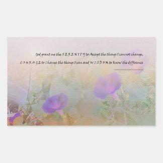 Correhuelas del rezo de la serenidad rectangular altavoces