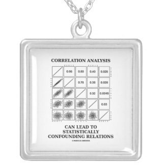 Correlation Analysis Can Lead Confounding Relation Silver Plated Necklace
