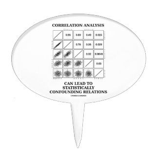 Correlation Analysis Lead Statistically Relations Cake Topper