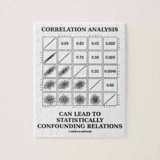 Correlation Analysis Lead Statistically Relations Jigsaw Puzzle
