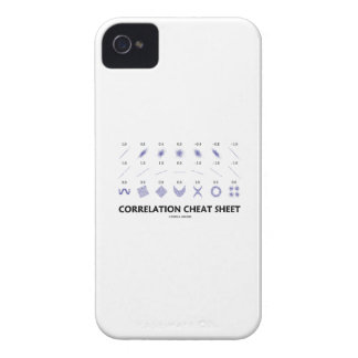 Correlation Cheat Sheet (Correlation Coefficients) Case-Mate iPhone 4 Case