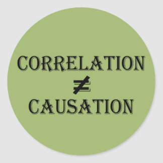 Correlation Does Not Equal Causation Classic Round Sticker
