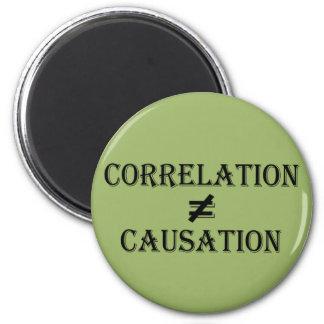 Correlation Does Not Equal Causation Fridge Magnet