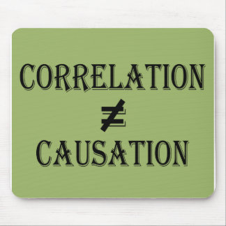 Correlation Does Not Equal Causation Mouse Pad