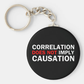 Correlation Does Not Imply Causation Basic Round Button Keychain
