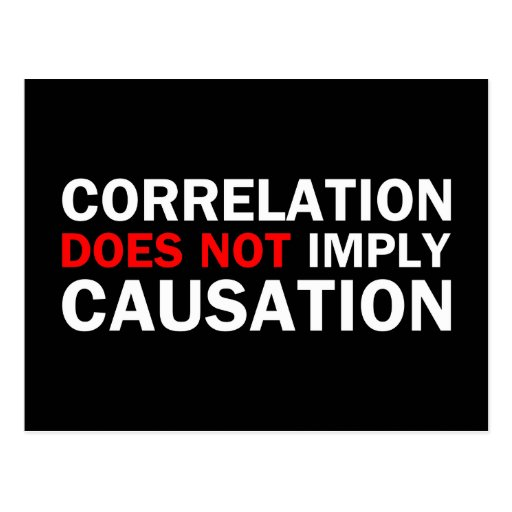 Correlation Does Not Imply Causation Postcard