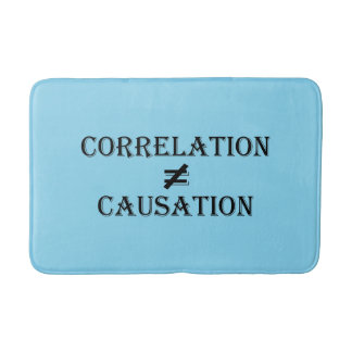 Correlation Not Causation Bath Mat
