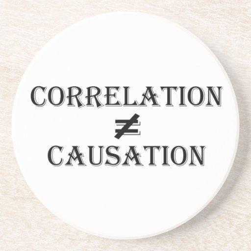 Correlation Not Causation Beverage Coasters